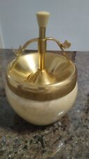 Beautiful Italian ART DECO Pop-Up Ashtray Antique wood metal By Aldo TURA