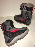 Used Men's Salomon Symbio Snowboard Boots Black Red Sz 5 US EU 37.5 Youth