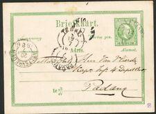N.I., BRIEFK. 5 CT. W.III MET KLEINROND TJILATJAP 17/7 1886 - PADANG  ZG058
