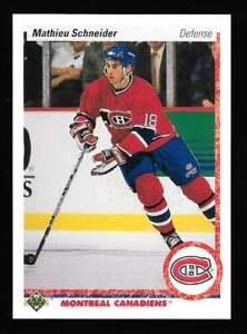 1990-91 Upper Deck #334 MATHIEU SCHNEIDER Rookie RC Montreal Canadiens USA