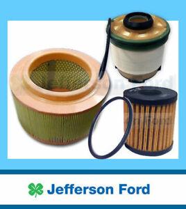 Genuine Ford  Px + Mk2 Ranger Diesel Oil + Air + Fuel Filter Service Kit 2.2 3.2