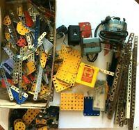 MECCANO ERECTOR Assorted Parts Lot of 10 Pounds Vintage Motors Screws Plates HTF