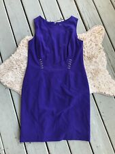 Tahari Arthur S. Levine Womens Size 14 Sheath Dress Purple Sleeveless