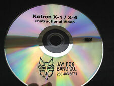 Ketron X-1, X-4 Instructional DVD w/rewriten owners manual