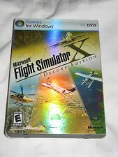 MICROSOFT FLIGHT SIMULATOR X DELUXE EDITION (PC, 2006) W/ SLIPCOVER KEY & MANUAL