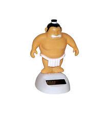 5 x solaire Figurine Lutteur Sumo Dansante auto déco 10,5cm