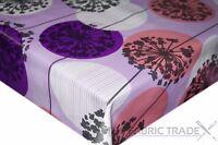Purple Dandelions Circles PVC Tablecloth Vinyl Oilcloth Kitchen Dining Table