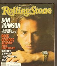 #460 NOV 7 1985 ROLLING STONE vintage music magazine --- DON JOHNSON