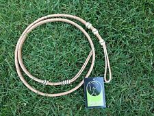 Whip Showman 4 ft Braided Rawhide & Leather OVER & UNDER WHIP