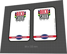 ROCKSHOX Judy DH0 1997 Fork Sticker / Decal Set