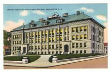 Undated Unused Postcard Central Classical High School Building Manchester NH
