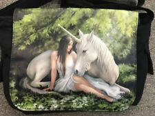 Anne Stokes Pure Heart Unicorn Mythical Uni School Tote Side Bag