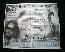Best THE BIG LEBOWSKI The Dude Cult Film Movie Opening Day AD1998 L.A. Newspaper