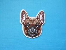 French Bulldog Embroidered Patch Applique Iron Sew On Patch Embroidery Dog Brown