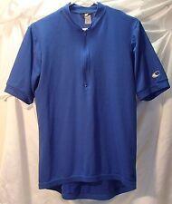 Canari Blue Polyester 1/2 Zip Short Sleeve Cycling/Biking Jersey Mens Size M