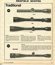 1975 Print Ad of Redfield Traditional & RM6400 Variable Power Rifle Scope