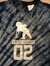 PRPS Tie Dye Blue Mens XL Cherub 02 Silhouette Extra Large T Shirt Orig. $135+