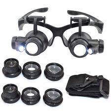 gafas lupa de reparación de reloj reloj de la joyería la lupa LED 8 de la lente