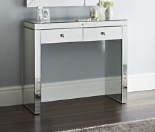 Mirrored Hall or Dressing Table Two storage Drawers new Chic console 90 cm wide
