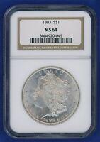 1883 P NGC MS64 Morgan Silver Dollar $1 Better Date 1883-P NGC MS-64