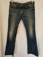 Buckle Black Fit No.53 Bootcut Low Rise Tag Sz 29x34 Actual 32x33 Frayed Hems