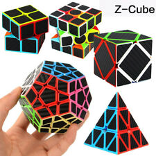 7 Style Z-cube 3x3 2x2 Pyramid Speed Cube Carbon Fiber Sticker Magic Puzzle Cube
