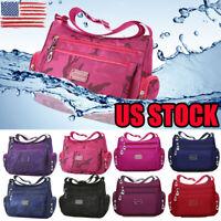 US Women's Tote Messenger Cross Body Handbag Hobo Bag Ladies Shoulder Bag Purse