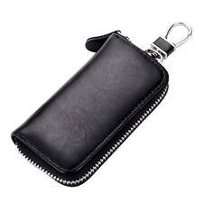 Men Fashion Leather Bag Key Chain Coins Purse Holder Small Wallet Zipper Gift