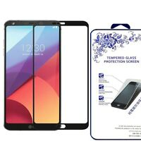 HD Tempered Glass Screen Protector Saver Shield For LG G6 / LGG6 (Black)