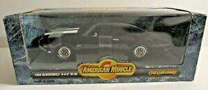 1/18 AMERICAN MUSCLE ~ERTL ~ 1969 OLDSMOBILE 442 W30 ~ BLACK