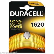 15 x Duracell Batterie CR1620 Lithium 3V Knopfbatterie CR 1620 Knopfzelle Auto