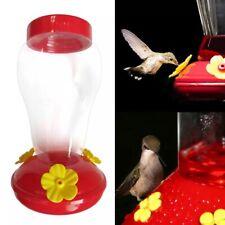 Hummingbird Feeder Nectar  Outdoor Yard Window Bird Plastic Red Clear Hanger