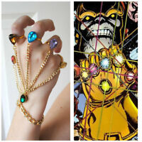 Marvel's Infinity War Thanos Infinity Gauntlet Cosplay Finger Hand Bracelet Ring