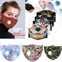1/2/5X Unisex Face Mask Reusable Washable Protective Cycling Breathable Covering