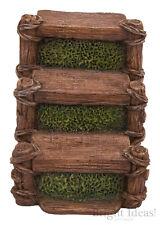 Vivid Arts - MINIATURE WORLD FAIRY GARDEN HOME ACCESSORIES - 3 Wooden Steps