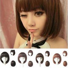 Fashion Short Straight Bob Hair Full Wigs Women Cosplay Party Wig Costume