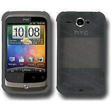 NEW AMZER GREY PREMIUM SILICONE SOFT SKIN JELLY CASE COVER FOR HTC WILDFIRE