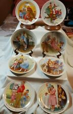 Knowles Collector Plates by Csatari, Grandparents Complete Set of Eights Plates