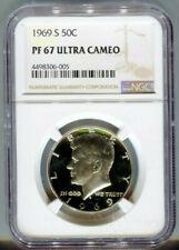 1969 S Kennedy Half Dollar NGC PF 67 ULTRA CAMEO Proof 67