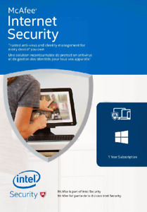 McAfee Internet Security 2021 - 1 Year - 1 Device Key Download License Worldwide
