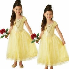 Live Action Belle Beauty And The Beast Costume Fancy Dress Disney Princess Kids