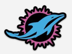 Miami DOLPHINS City Logo MAGNET - NFL Miami Vice Premium Vinyl Magnet Tua Era