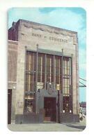 BANK OF COMMERCE, MARKET ST. OPPOSITE PENNSYLVANIA RR NEWARK NEW JERSEY POSTCARD