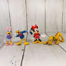 "Disney Minnie Mouse Friends Articulated PVC 4  Minnie Daisy Pluto Donald Duck 2"""