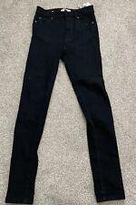 BNWOT Pull & Bear High Waisted Super Skinny Black Denim Jeans Size 6/8