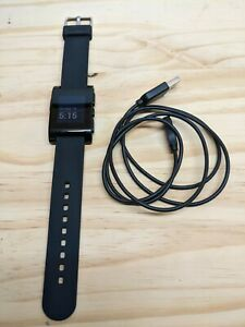 Pebble 301BL  Smart Watch - Black - Fully Tested