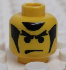 Lego Minifig Head Male Black Ninja from 1998 Ninja series  - NEW