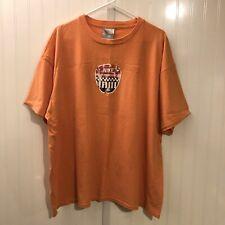 Vintage 90s Nike Performance T Shirt Orange Men's XL Rare Racing Graphic