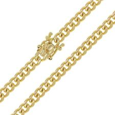 """14k Yellow Gold Miami Cuban Link Chain Necklace 22"""" 5.5mm 48.4 grams"""