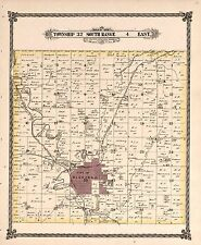 1882 Cowley County plat maps Kansas Genealogy history Atlas Land P75